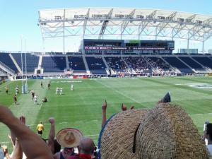 View of CRC 7s play from my seat at PPL Park!